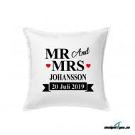 Kuddfodral - MR and MRS och Efternamn, Datum