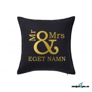 Kuddfodral - MR and MRS och EGET NAMN