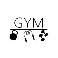 Väggdekor - GYM med redskap