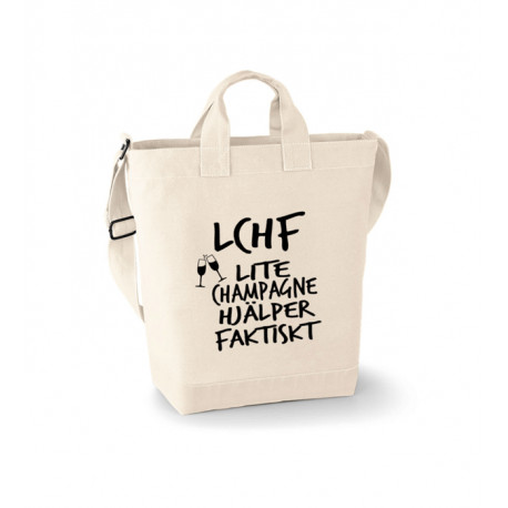 Canvas Bag - LCHF lite champagne hjälper faktiskt
