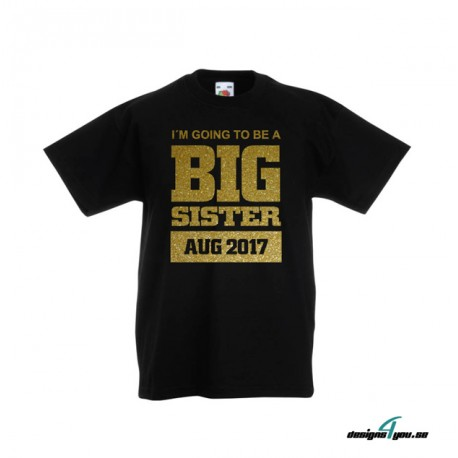 Barn t-shirt - I´M GOING TO BE A BIG SISTER