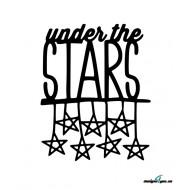 Väggtext - under the STARS